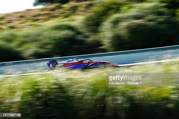 Jack Doohan of Australia and Trident drives at Circuito de Jerez on May 12, 2021 in Jerez de la Frontera, Spain.