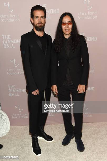 Jack Dorsey and Voula Duval attends Rihanna's 4th Annual Diamond Ball benefitting The Clara Lionel Foundation at Cipriani Wall Street on September 13...