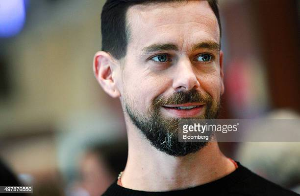 Jack Dorsey chief executive officer of Square Inc tours the floor of the New York Stock Exchange in New York US on Thursday Nov 19 2015 Square Inc...
