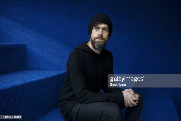 Jack Dorsey chief executive officer of Twitter Inc and Square Inc sits for a photograph following an Empowering Entrepreneurs event at Ryerson...