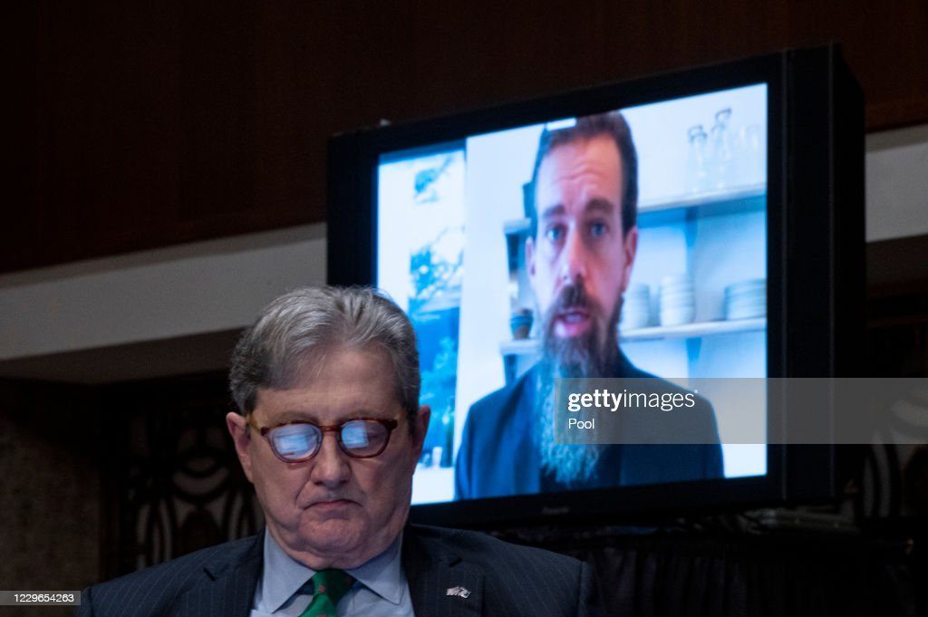 Tech CEO's Testify Remotely Before Senate Judiciary : ニュース写真