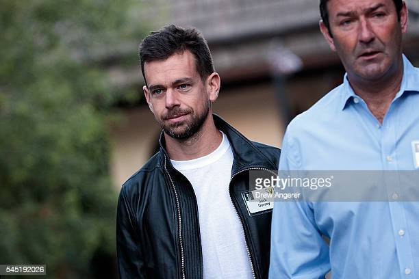 Jack Dorsey cofounder and chief executive officer of Twitter and Steve Easterbrook president and chief executive officer at McDonalds attend the...