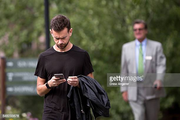 Jack Dorsey cofounder and chief executive officer of Twitter attends the annual Allen Company Sun Valley Conference July 6 2016 in Sun Valley Idaho...