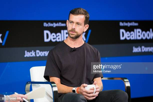 Jack Dorsey speaks during The New York Times 2017 DealBook Conference at Jazz at Lincoln Center on November 9 2017 in New York City