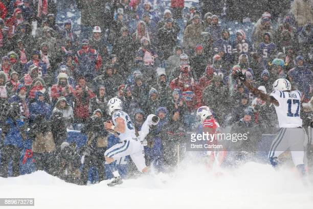 Jack Doyle of the Indianapolis Colts scores a touchdown against the Buffalo Bills during the fourth quarter on December 10 2017 at New Era Field in...