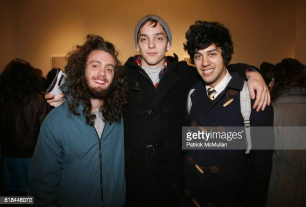 Jack Duritz Romke Hoogwaerts and Bobby Doherty attend ERWIN OLAF Opening Reception at Hasted Hunt Kraeutler on January 28 2010 in New York