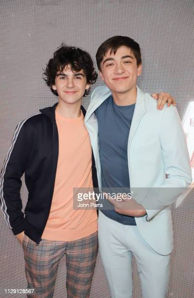 "Jack Dylan Grazer and Asher Angel arrive at Miami Red Carpet Screening of ""SHAZAM!"" on March 7, 2019 in Miami, Florida."