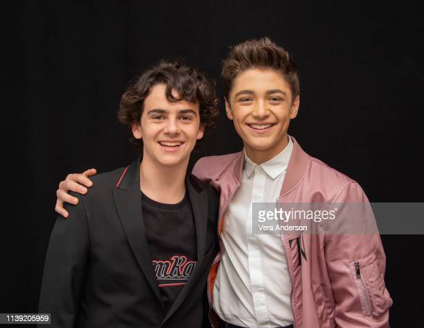 Jack Dylan Grazer and Asher Angel at the Shazam Press Conference at The London Hotel on March 28 2019 in West Hollywood California