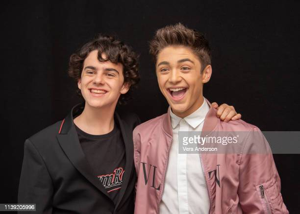 "Jack Dylan Grazer and Asher Angel at the ""Shazam!"" Press Conference at The London Hotel on March 28, 2019 in West Hollywood, California."