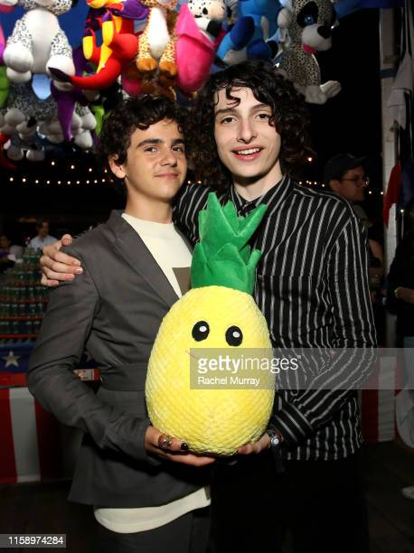 "Jack Dylan Grazer and Finn Wolfhard attend the ""Stranger Things"" Season 3 World Premiere on June 28, 2019 in Santa Monica, California."