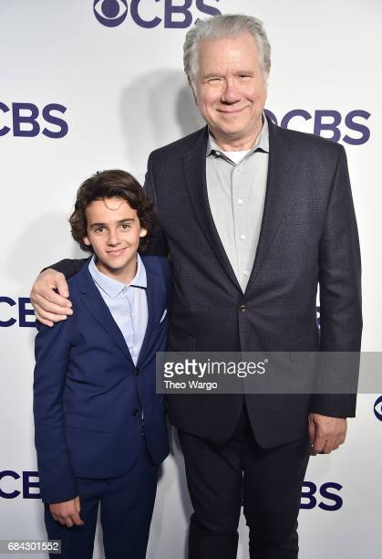 Jack Dylan Grazer and John Larroquette attend the 2017 CBS Upfront on May 17 2017 in New York City