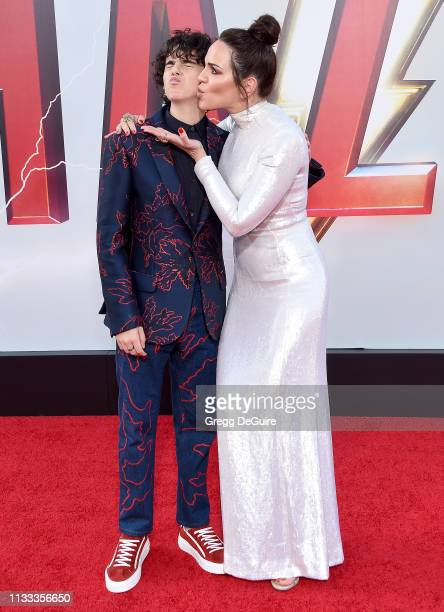 Jack Dylan Grazer and Marta Milans attend Warner Bros Pictures And New Line Cinema's World Premiere Of SHAZAM at TCL Chinese Theatre on March 28 2019...