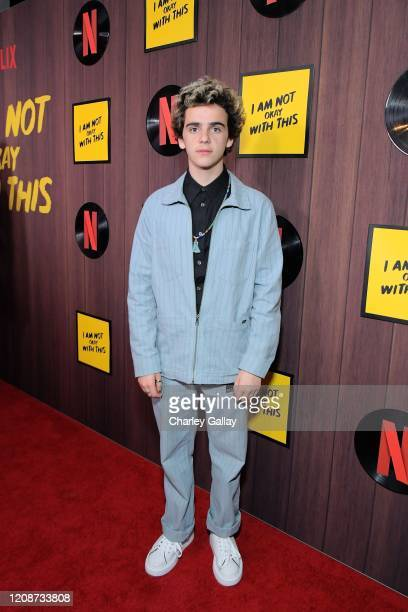 "Jack Dylan Grazer attends the premiere of Netflix's ""I Am Not Okay With This"" at The London West Hollywood on February 25, 2020 in West Hollywood,..."