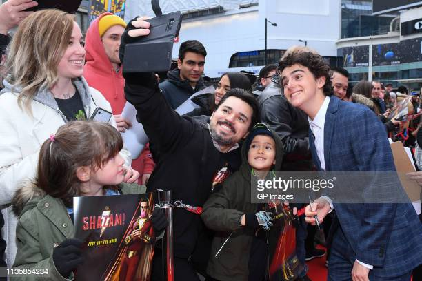 Jack Dylan Grazer attends the unveiling of the Shazam World Exclusive Fan Experience on March 14 2019 in Toronto Canada