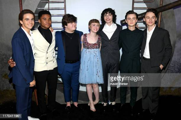Jack Dylan Grazer Chosen Jacobs Jeremy Ray Taylor Sophia Lillis Finn Wolfhard Jaeden Martell and Wyatt Oleff attend the Premiere of Warner Bros...