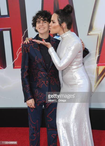 Jack Dylan Grazerand Marta Milans arrive for the Warner Bros Pictures And New Line Cinema's World Premiere Of SHAZAM held at TCL Chinese Theatre on...