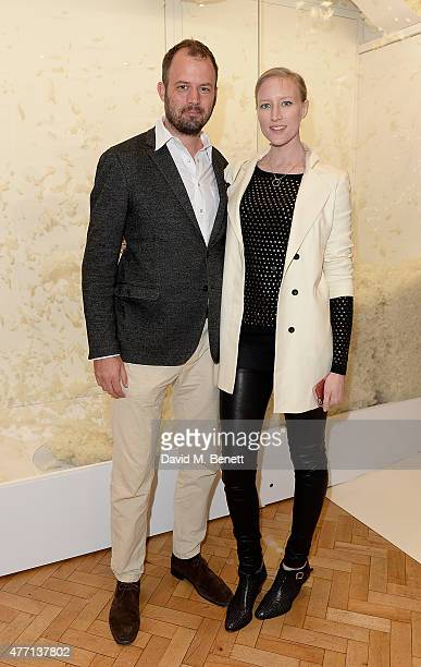 Jack Dyson and Jade Parfitt attend the cocktail party for REDA in collaboration with The Woolmark Company and Magnum celebrating 150 years, at One...