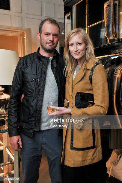 Jack Dyson and Jade Parfitt attend the opening of Belstaff House on September 15 2013 in London England