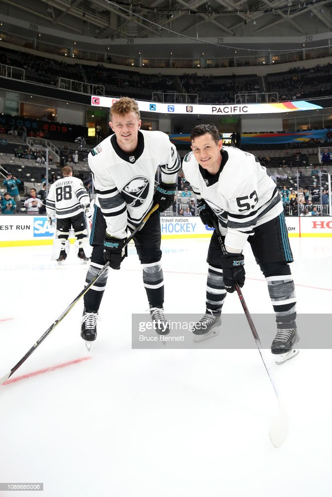 new concept 6df71 06c7f Jack Eichel and Jeff Skinner of the Buffalo Sabres pose ...