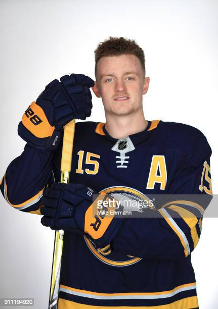 Jack Eichel of the Buffalo Sabres poses for a portrait during the 2018 NHL AllStar at Amalie Arena on January 27 2018 in Tampa Florida