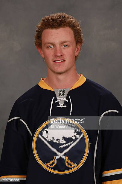 Jack Eichel of the Buffalo Sabres poses for his official headshot for the 20152016 season on September 17 2015 at the First Niagara Center in Buffalo...