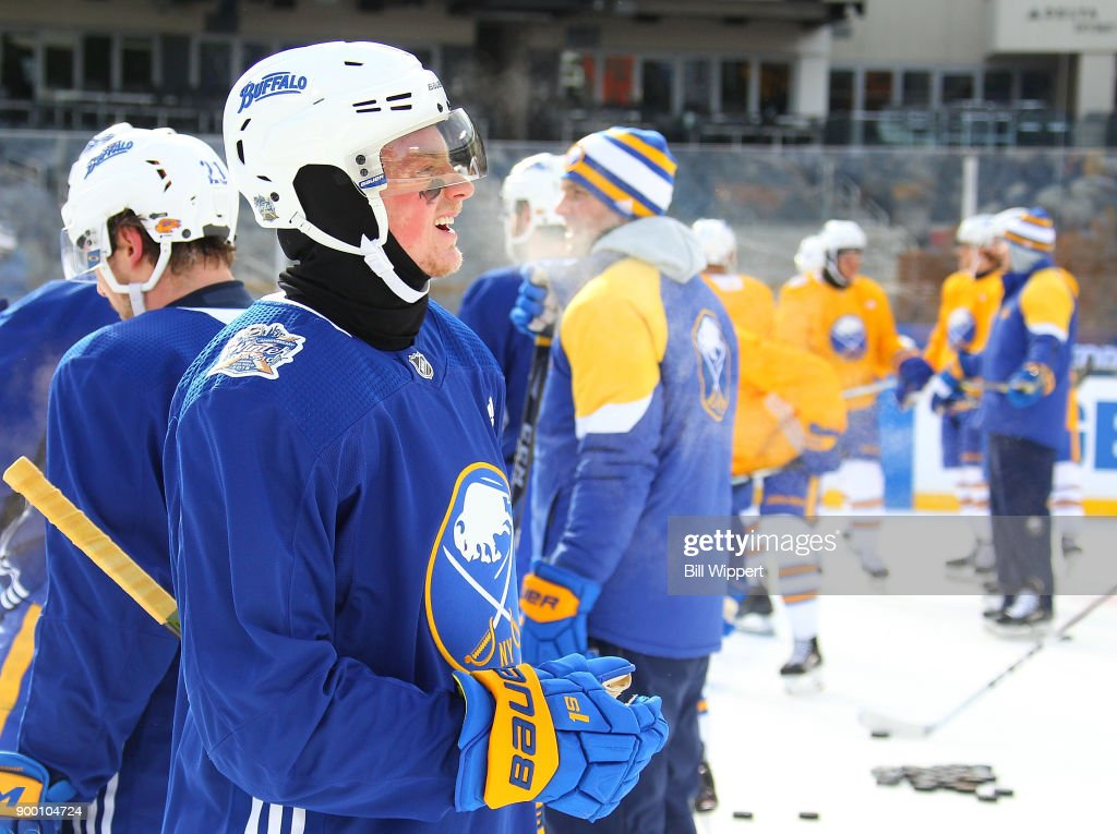 quality design 16274 6b1c8 Jack Eichel of the Buffalo Sabres takes part in Practice Day ...