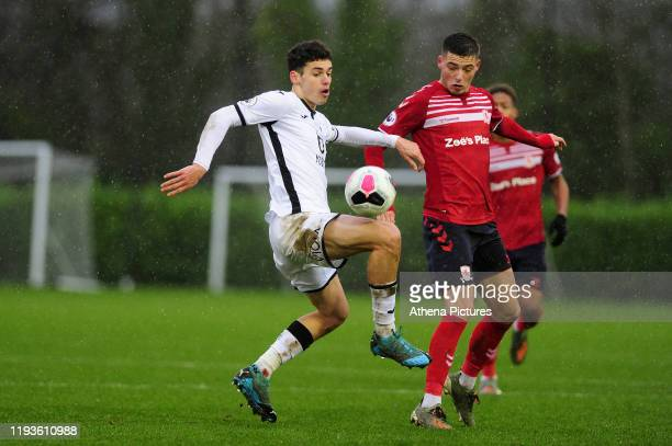 Jack Evans of Swansea City u23 during the Premier League 2 Division Two match between Swansea City u23s and Middlesbrough u23s at Swansea City AFC...