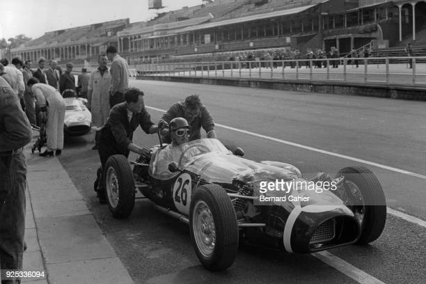 Jack Fairman FergusonClimax P99 Grand Prix of Great Britain Aintree 15 July 1961 Jack Fairman at the wheel of the unusual Fergusson 4WD Formula One...