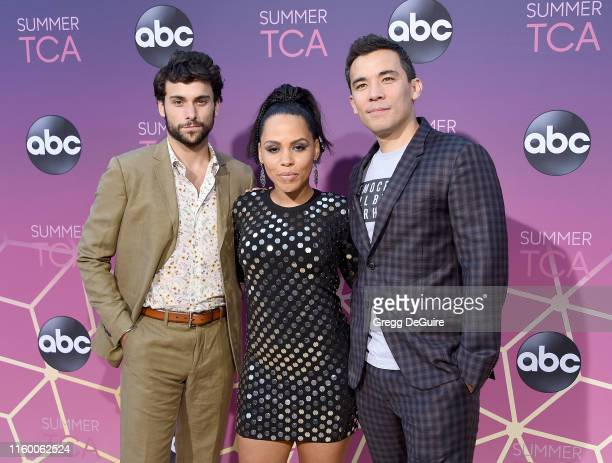 Jack Falahee Amirah Vann and Conrad Ricamora arrive at ABC's TCA Summer Press Tour Carpet Event on August 5 2019 in West Hollywood California
