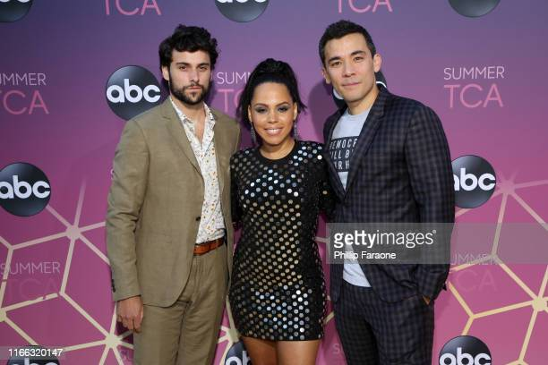 Jack Falahee Amirah Vann and Conrad Ricamora attend ABC's TCA Summer Press Tour Carpet Event on August 05 2019 in West Hollywood California