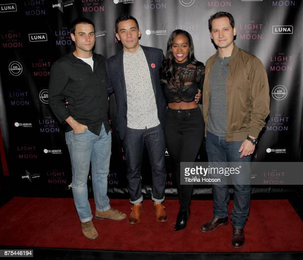 Jack Falahee Conrad Ricamora Aja Naomi King and Matt McGorry attend 'The Light Of The Moon' Los Angeles premiere at Laemmle Monica Film Center on...