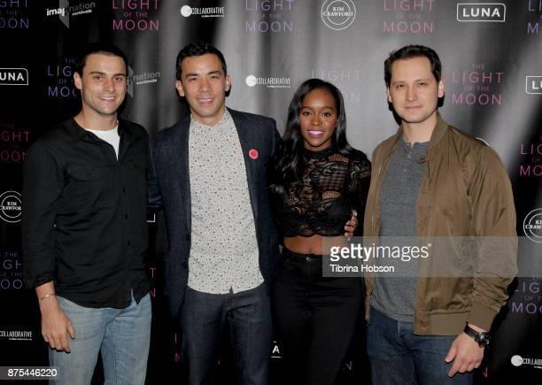 Jack Falahee Conrad Ricamora Aja Naomi King and Matt McGorry attend 'The Light Of The Moon' Los Angeles premiere at Laemmle Monica Film Center on...