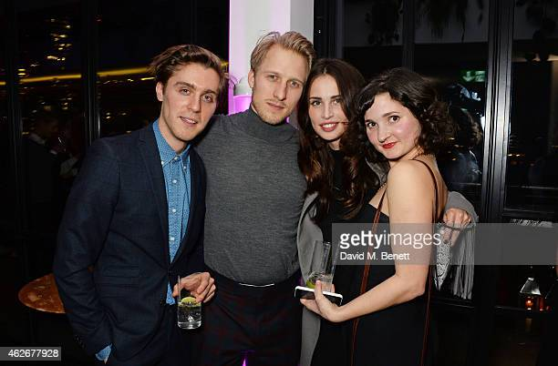 Jack Farthing and Ruby Bentall attend the InStyle and EE Rising Star Party in association with Lancome Karen Millen and Sky Living at The Ace Hotel...