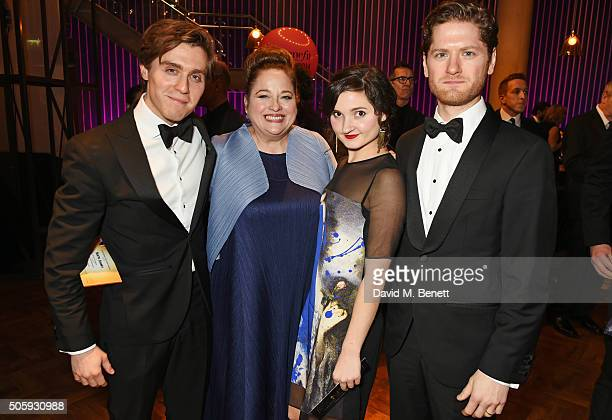 Jack Farthing Beatie Edney Ruby Bentall and Kyle Soller attend the 21st National Television Awards at The O2 Arena on January 20 2016 in London...