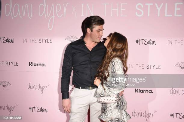 Jack Fincham and Dani Dyer attend the 'Dani Dyer X In The Style' launch party on October 10 2018 in London United Kingdom