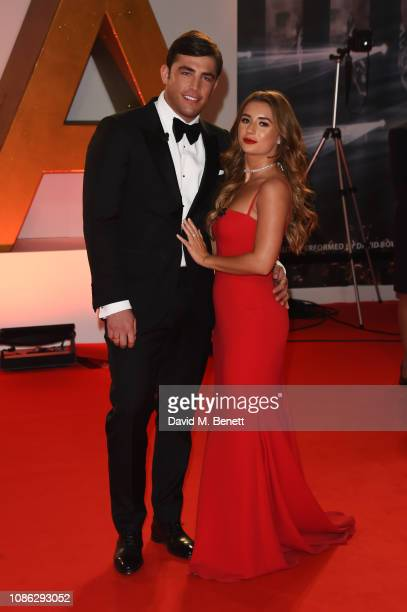 Jack Fincham and Dani Dyer attend the National Television Awards held at The O2 Arena on January 22 2019 in London England