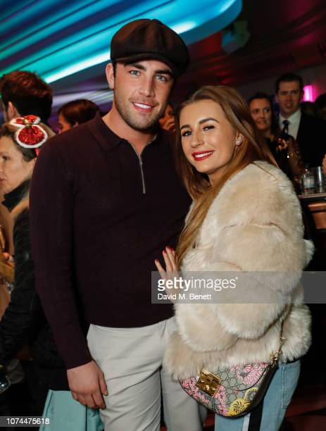Jack Fincham and Dani Dyer attend the press night performance of Nativity The Musical at The Eventim Apollo Hammersmith on December 20 2018 in London...