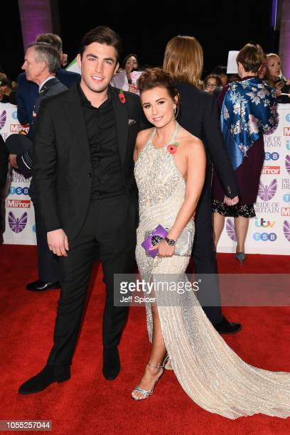 Jack Fincham and Dani Dyer attend the Pride of Britain Awards 2018 at The Grosvenor House Hotel on October 29 2018 in London England
