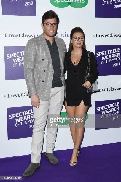 Jack Fincham and Dani Dyer attend the Specsavers 'Spectacle Wearer Of The Year' at 8 Northumberland Avenue on October 24 2018 in London United Kingdom