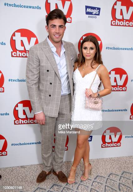 Jack Fincham and Dani Dyer attend the TV Choice Awards at The Dorchester on September 10 2018 in London England