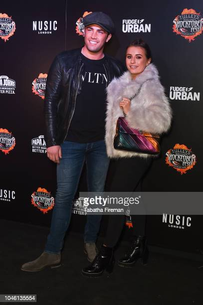 Jack Fincham and Dani Dyer attends the press night for Shocktober Fest at Tulleys Farm on October 5 2018 in Crawley West Sussex
