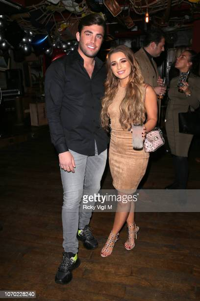Jack Fincham and Dani Dyer during the launch of Jack Fincham's new pen range at Mrs Fogg's on November 20 2018 in London England
