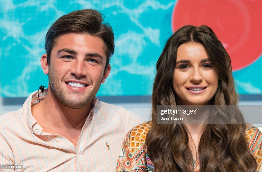 Jack Fincham and Dani Dyer during the 'Love Island Live' photocall at ICC Auditorium on August 10, 2018 in London, England.