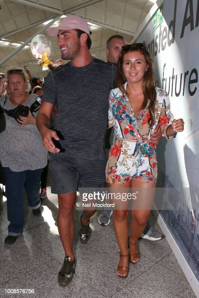 Jack Fincham and Dani Dyer seen arriving back from Love Island 2018 Final at Stansted Airport on July 31 2018 in London England
