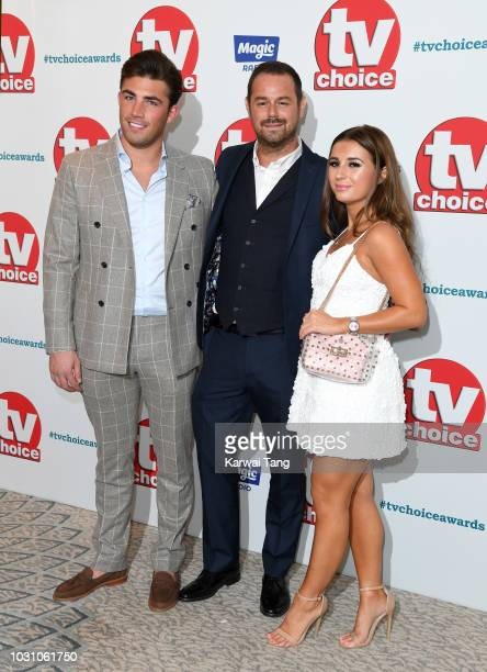 Jack Fincham Danny Dyer and Dani Dyer attend the TV Choice Awards at The Dorchester on September 10 2018 in London England