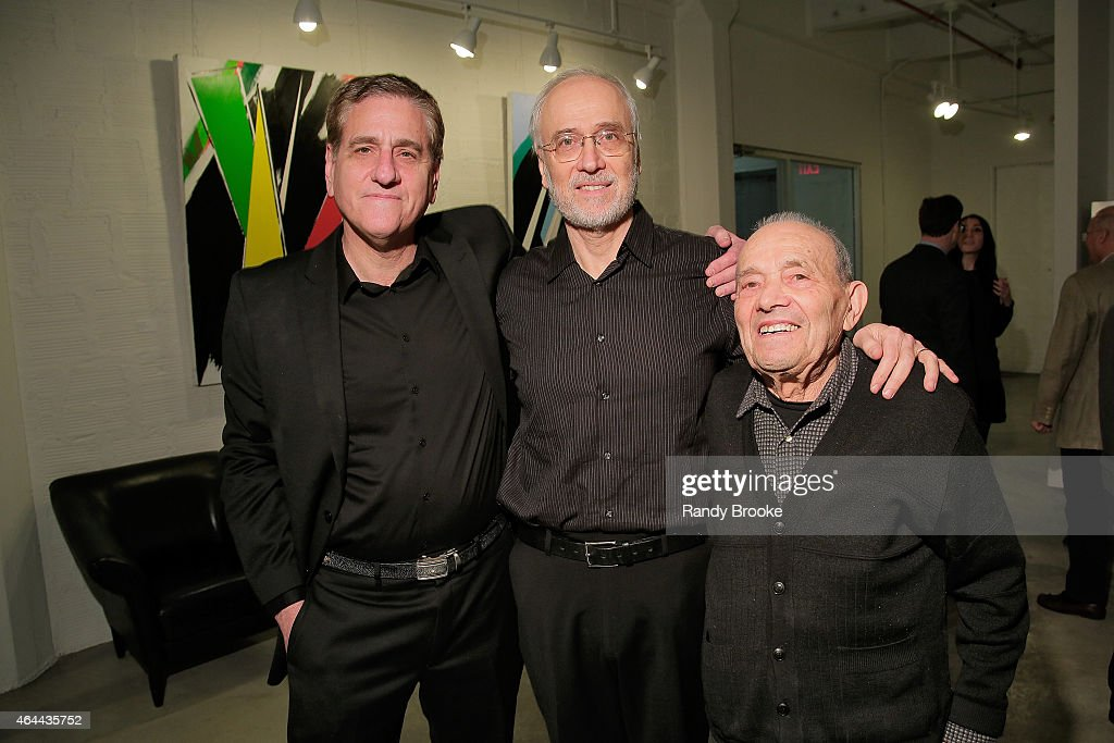 Jack Fisher, Joe Fisher and Alan Fisher attend FilmRise Celebrates new office in Industry City - Brooklyn at FilmRise on February 25, 2015 in Brooklyn, New York.