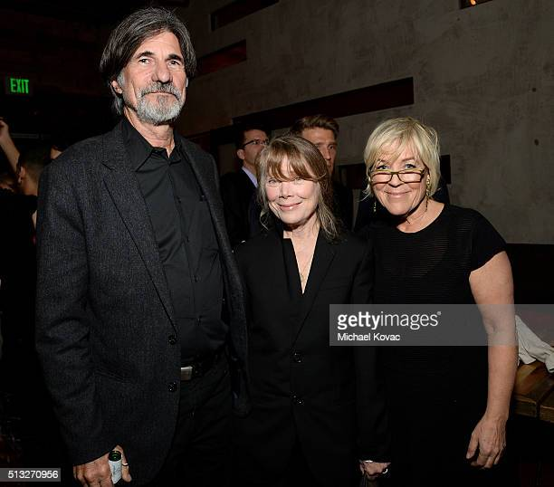 Jack Fisk Sissy Spacek and producer Sarah Green attend the after party for the Los Angeles Premiere Of Broad Green Pictures' Knight Of Cups on March...