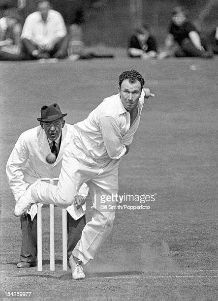 Jack Flavell bowling for Worcestershire circa May 1965