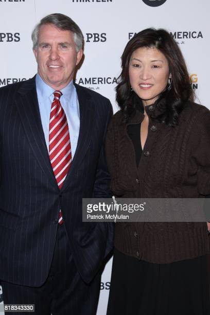 Jack Ford and JuJu Chang attend The Premiere Screening of FACES OF AMERICA at The Allen Room on February 1 2010 in New York City