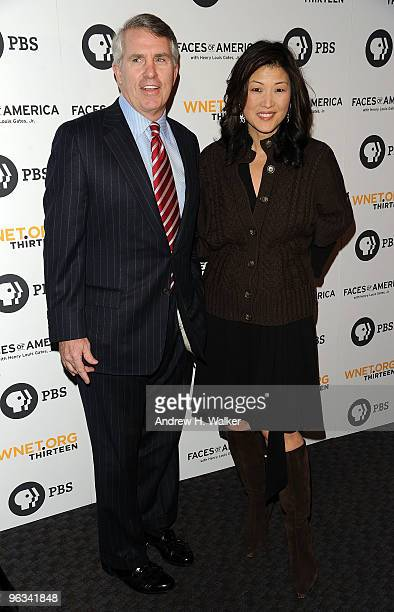 Jack Ford and Juju Chang attend the premiere screening of Faces of America at the Allen Room Frederick P Rose Hall home of Jazz at Lincoln Center on...